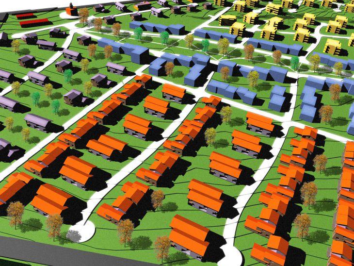 Генеральный план, Посадская деревня