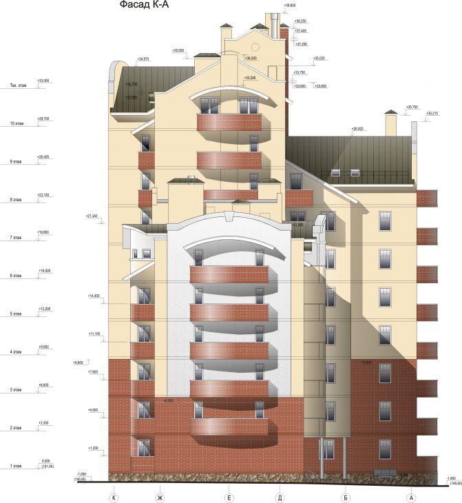 Многоэтажный жилой дом, г.Ивантеевка